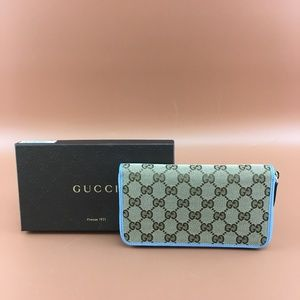 Preowned Gucci GG Canvas Guccissima Long Wallet